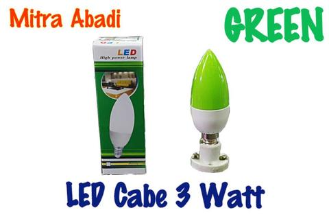 Lampu LED Cabe/Candle 3 Watt GREEN