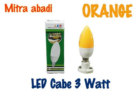 Lampu LED Cabe/Candle 3 Watt ORANGE