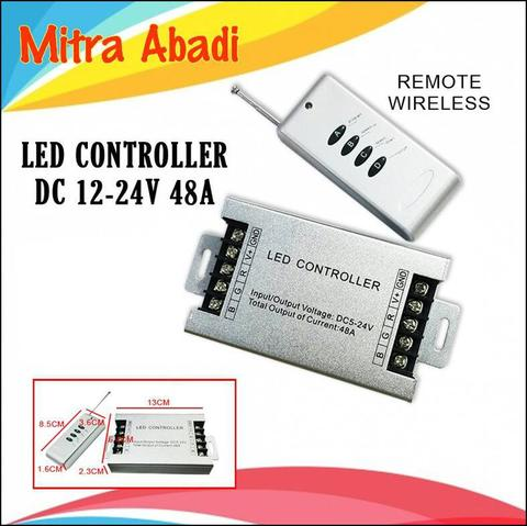 LED Controller Aluminium LED Strip RGB DC12-24V 48A + Remote Wireless