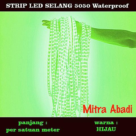 LED Selang Green/Hijau 1 meter (Per meter) SMD 5050 WATERPROOF