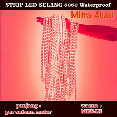 LED Selang Red/Merah 1 meter (Per meter) SMD 5050 WATERPROOF