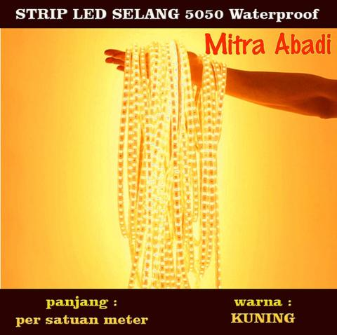 LED Selang Yellow/Kuning 1 meter (Per meter) SMD 5050 WATERPROOF