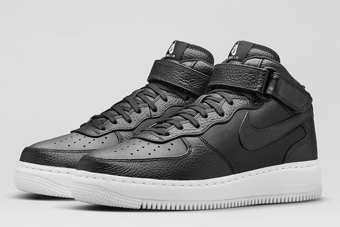 "Nike Air Force 1 MID Leather ""Black White"""
