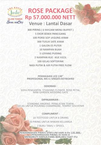 Over DP / Oper DP Paket Pernikahan Weeding Package di Royal Jade