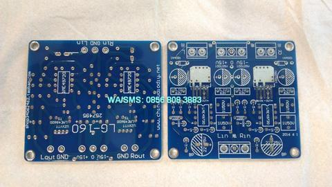 PCB High Grade Headphone Amplifier LME49720HA dan LME49600