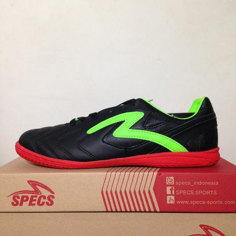Sepatu Futsal Specs Valor IN Black Opal Green 400554 Original BNIB