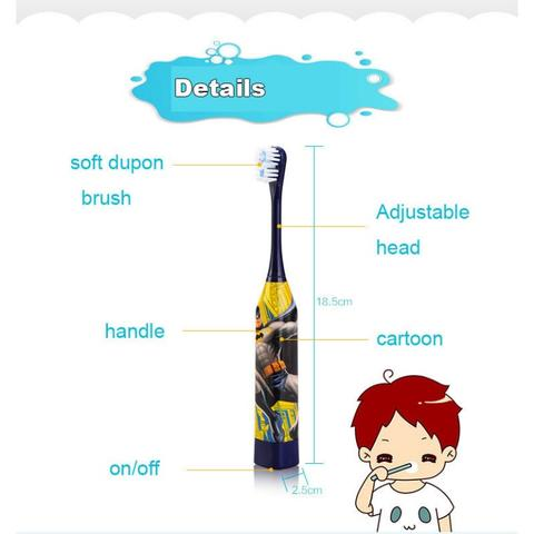 Sikat Gigi Anak Electric Toothbrush with Cartoon Pattern (づ。◕‿‿◕。)づ ░░▒▓██