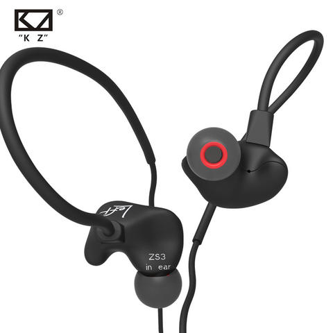 Headset Knowledge Zenith Running Sport Earphones Microphone KZ-ZS3