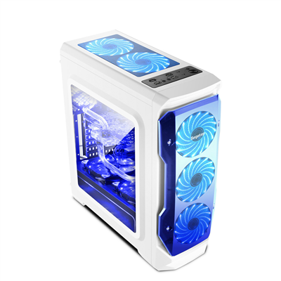 [JoJo CompTech] SEGOTEP HALO White Full Transparent Side Window ATX Gaming Case