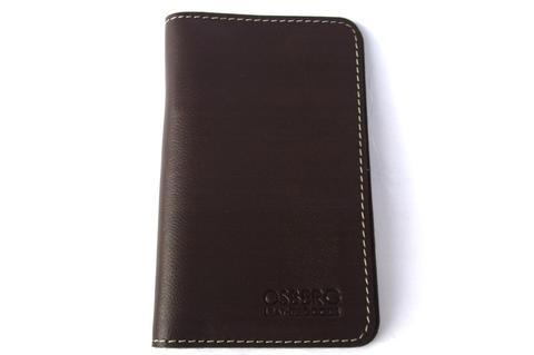 Milled Darkbrown Passport wallet dompet kulit