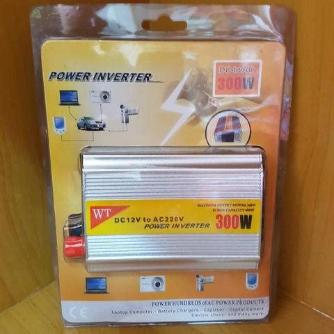 [TOVAL[ Power Inverter 300W / 300 Watt DC to AC Car Power