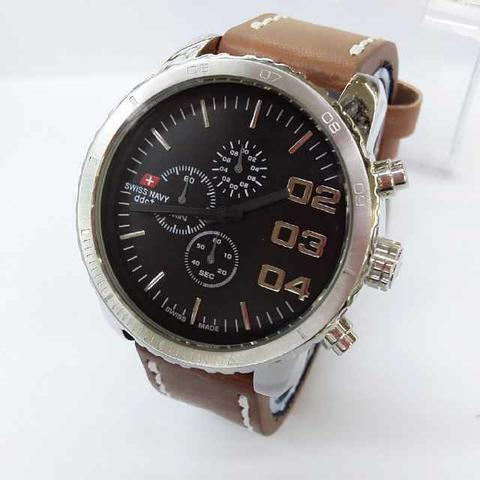 SWISS NAVY SN8922 BROWN SILVER BLACK ORIGINAL