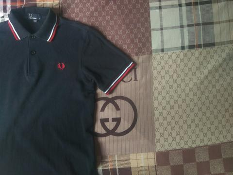 Terjual Fredperry fred perry polo shirt twin tipped style M1200 471 ... 954a91f140