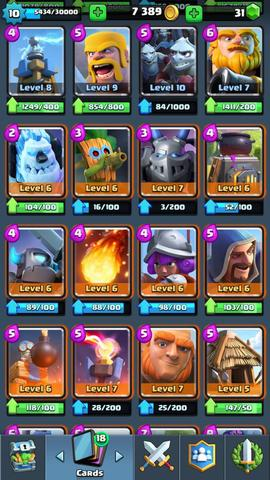 Dijual clash royale lvl 10 arena legendary 10