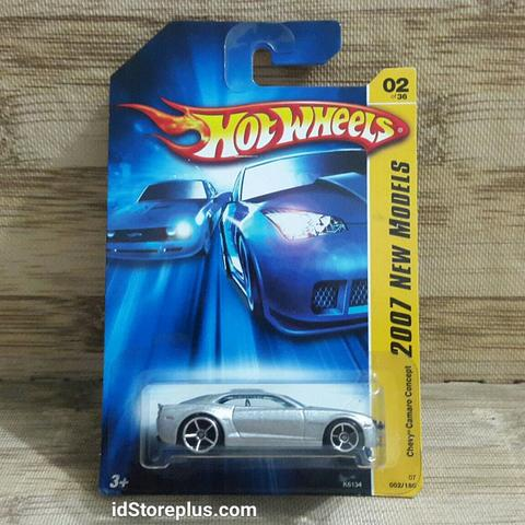 HOT WHEELS CHEVY CAMARO CONCEPT Silver 2007 NEW MODELS 02 of 36