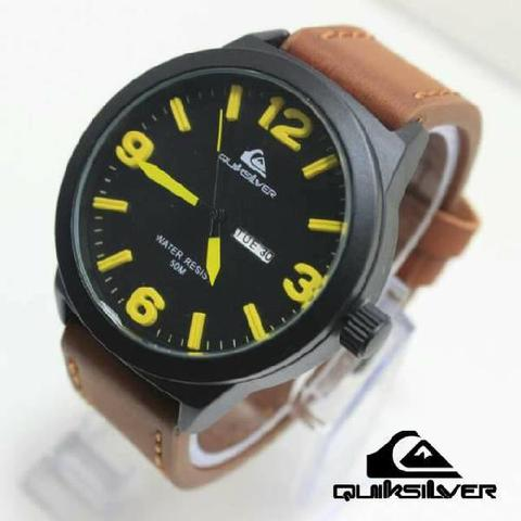 GROSIR JAM TANGAN QUIKSILVER QS0028 BROWN YELLOW