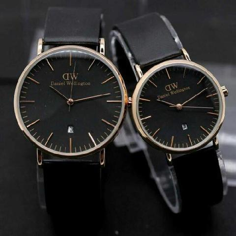 DW COUPLE DW013 BLACK ROSEGOLD
