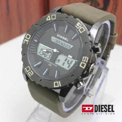 GROSIR JAM TANGAN DIESEL DS01 DARK GREEN