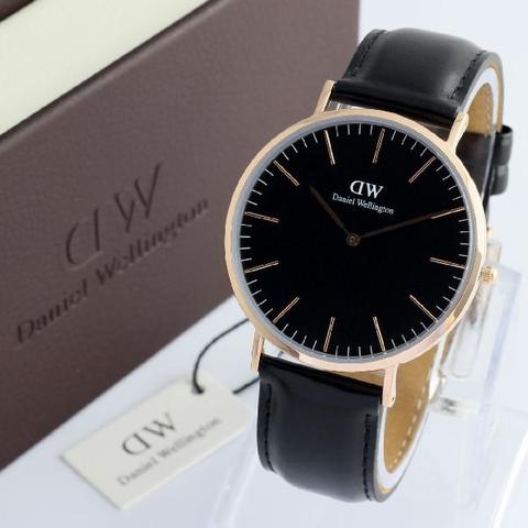 JAM TANGAN DW CLASSIC BRISTOL BLACK + BOX EXCLUSIVE