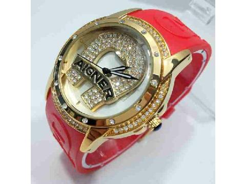 Aigner Rubber Red Gold