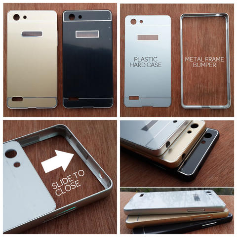 Aksesoris Oppo Neo 7 - Metal Slide Hard Case