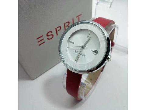 GOJEK REKBER*Jam Tangan Esprit ES108572 Red Silver + Box Exclusive
