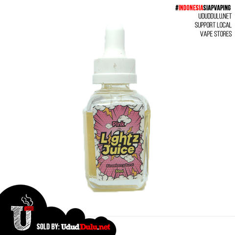 Premium Liquid Vape Vapor Pink Light Juice - Strawbery Burst