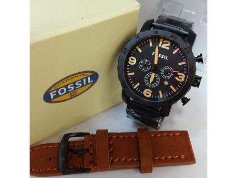 GOJEK REKBER*Jam Tangan Grosir Jam Tangan Fossil FS05 Cream Light Brown