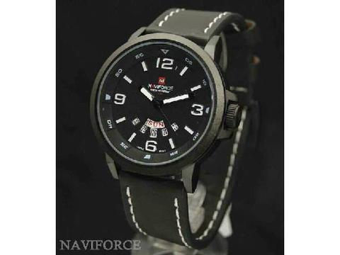 GOJEK REKBER*Jam Tangan Naviforce Nf 9028 Black White Original