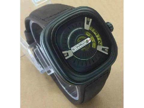 GOJEK REKBER*Jam Tangan Sevenfriday M2 Dark Brown Yellow Dial