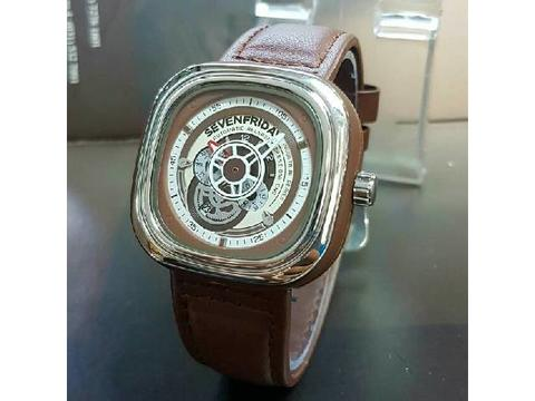GOJEK REKBER*Jam Tangan Sevenfriday Sf03 Brown Silver