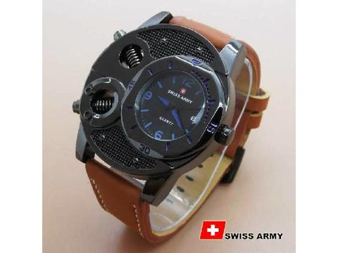 GOJEK REKBER*Jam Tangan Swiss Army Ba625 Brown List Blue