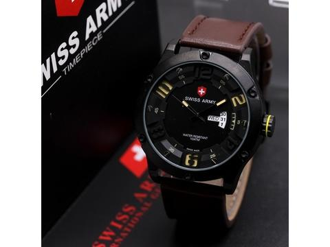 GOJEK REKBER*Jam Tangan Swiss Army Sa3035 Dark Brown Original