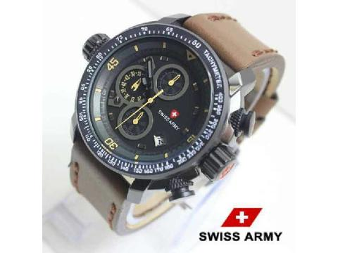 GOJEK REKBER*Jam Tangan Swiss Army Sa5046 Dark Brown