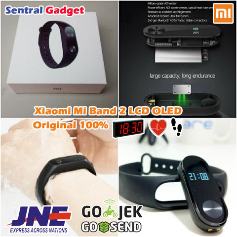 XIAOMI MI BAND 2 ORIGINAL WRISTBAND SMARTWATCH LCD OLED HEARTRATE SENSOR + WATERPROOF