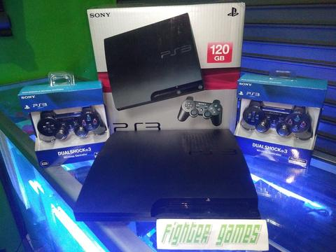 PS3 Slim NEW/BARU cfw HARDISK 120gb,GAME BISA REQUEST