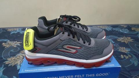 Jual Skechers Go Air Goga mat tech charcoal red BNIB original  29abad185f