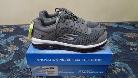 Terjual Skechers Go Air goga mat tech charcoal navy BNIB original ... 3fe03a8fc9