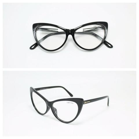 Frame Kacamata Minus Tom Ford Cat Eye 3710 Wanita Hitam