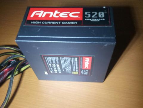PSU Pure/Power Supply Antec High Curent Gamer 80+ 520W