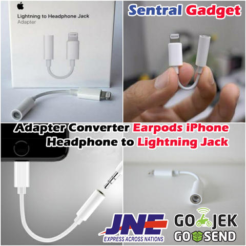 Converter Earpods iPhone/iPad Jack 3.5mm To Lightning Adapter Original