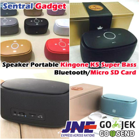 Speaker Portable Kingone K5 Super Bass Bluetooth & TF Card Dual Driver Built in Mic