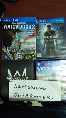 WTS BD PS4 WATCH DOGS 2 & UNCHARTED 4