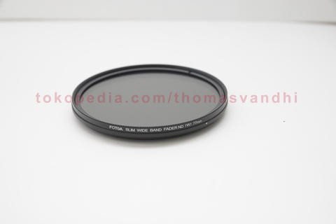 FOTGA 77mm Slim Adjustable Fader Variable ND Filter ND2 To ND400