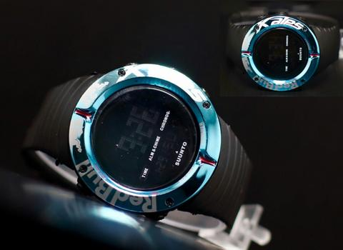 Jam Tangan Pria / Cowok Suunto Redbull Colors Ring Rubber Black Blue
