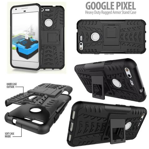 Aksesoris Google Pixel - Heavy Duty Rugged Armor Stand Case