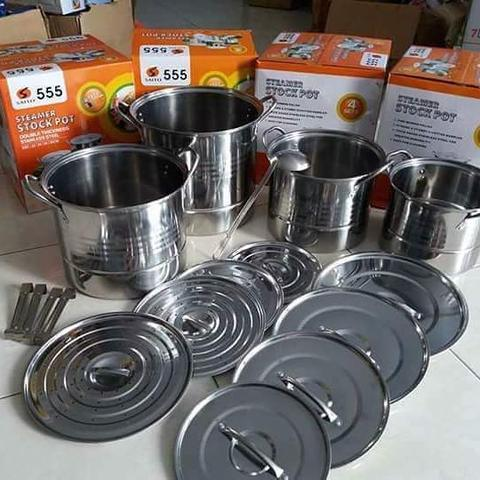Panci Supra Stock Pot Set 12 In 1 Baru Perabotan Dapur Stainless Steel Murah