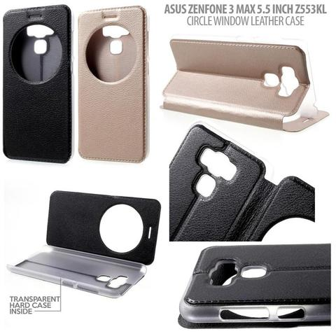 Aksesoris Asus Zenfone 3 Max 5.5 Inch ZC553KL - Circle Window Leather Case