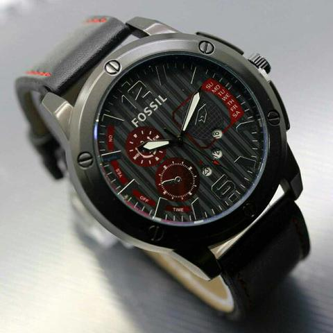 Fossil Fs060 Black Red