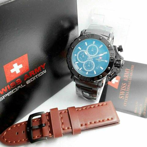 Swiss Army Paket Sa9205 Black (Brown Leather)